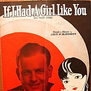 If I Had A Girl Like You – 1930