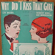 Why Did I Kiss That Girl -1924