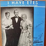 I Have Eyes /Paris Honeymoon– 1938