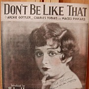 Don't Be Like That – 1928