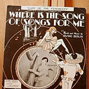 Where Is The Song of Songs For Me – 1928