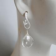 Rock Crystal Dangle Earrings