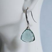 Gorgeous Sage Green Quartz Dangle Gemstone Earrings