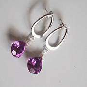 Jewelry Earrings Hoop garnet hoop earring garnet earrings gemstone earrings hoop earrings garn