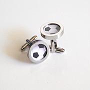 Soccer Ball Cufflinks- Men's Cuff links - Men's jewelry-- Photo Cuff Links- Sports Cufflinks -