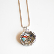 Memory Glass Locket-Floating Charm Locket- Mother's Day Locket- Mother's Day Necklace- Floatin