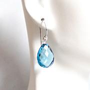 London Blue Quartz Earrings- Mother's Day Jewelry- Mother's Day Earrings-Wedding Jewelry-Brida