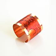 Copper Cuff Bracelet --Solid Copper Bracelet with patina Design - Cuff Bracelet- Copper Bracel