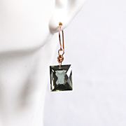 Green Amethyst Dangle Drop Earrings- Fine Jewelry-Wedding Jewelry- Bridal Jewelry -Bridal Acce