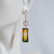 AAA Grade 20.73 ct. Bi-Colour Ametrine Dangle Drop Earrings - Wedding Jewelry- Bridal accessor