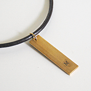 Personalizes Leather Necklace - Hand Stamped Brass Pendant- Unisex Necklace- Men's Leather nec
