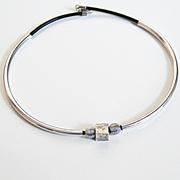 Men's Choker Necklace- Men's Necklace- Men's Jewelry -Leather Necklace- Choker- Long Tube Neck