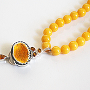 Statement Necklace -31.73 ct. Natural yellow Geode Druzy citrine sterling silver Pendant & yel