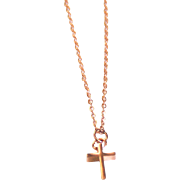 SOLD Rose Gold Tiny Cross Necklace- Charm Necklace- Everyday Necklace -Rose Gold Cross Jewelry