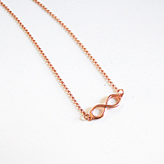 Rose Gold Filled Necklace With Infinity Charm- Everyday Necklace -Rose Gold Filled Infinity Je