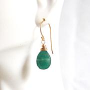 Green Onyx Dangle Drop Earrings-Green Earrings- Green Onyx Earrings-For Her-Wedding Jewelry- B