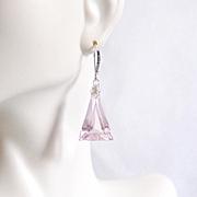 Baby Pink 24.49 ct. Kunzite Dangle Drop Earrings- Fine Jewelry-Wedding Jewelry- Bridal Jewelry