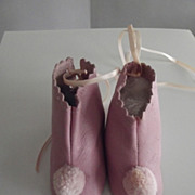 Vintage Pink Leather Shoes
