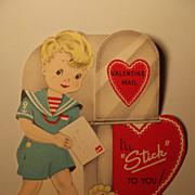Vintage Valentine With Wrigley Gum