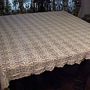SOLD Beautiful Old Tablecloth - Red Tag Sale Item