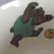 Vintage Child's Bowl With Bears and Dog