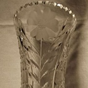 SALE Large  Cut Glass Vase
