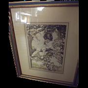 SALE Pair of Children Prints Similar to Bessie Gutmann