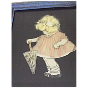 Paperdoll  Picture of  A Child With Umbrella