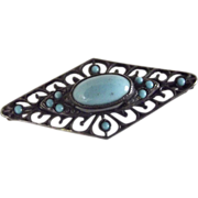 Sterling and Tourquoise Brooch