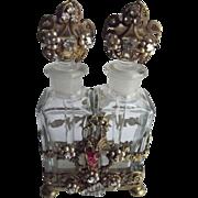 Early Ormolu Perfumes In Fancy Holder