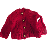 SALE PENDING Sweater With Cablestitch For Bear or Doll