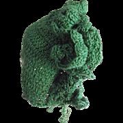 Crocheted Doll Bonnet