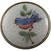 Guilloche Pin With Robin