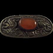 """""""China"""" Pin With Orange Stone"""