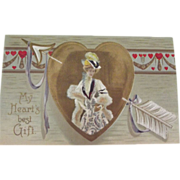 German Embossed Valentine Post Card