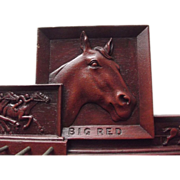 "Tie Rack With Race Horse ""Big Red"""