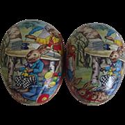 Large German Paper Mache Easter Egg