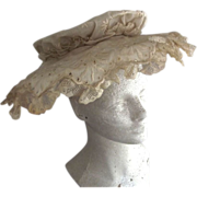 Eyelet and Lace Bonnet For Display