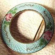 Guilloche Circle Pin
