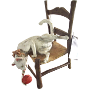 Capodimonte Cat On A Chair