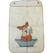 SOLD Laundry Bag With Puppy