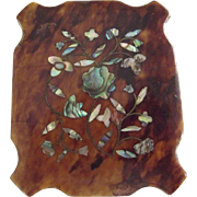 SOLD Daguerreotype In Mother of Pearl Trimmed Case