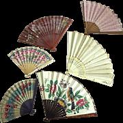 Fan Collection, Wedding Fan, Painted Fan, Wood Spoke Fans As Is