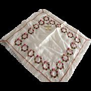 French Souvenir Silk Handkerchief