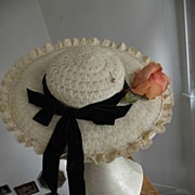 "SALE Wide Brimmed Hat ""Cinderella"""