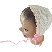 Knit Bonnet For Doll