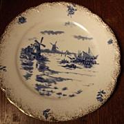 SALE Delft Plate Dutch Scene