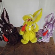 SALE Lot of Three Bunnies