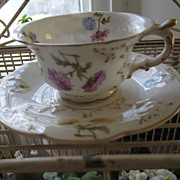 SALE French Porcelain Cup and Saucer