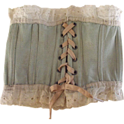 Doll's Corset Blue With Eyelet